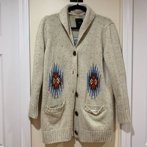 OBEY button up sweater size medium